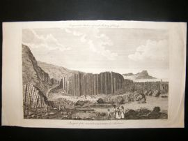 Barlow 1791 Folio Antique Print. Prospect of the Giant's Causeway, Ireland